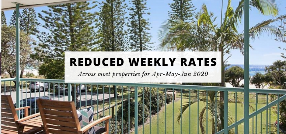 Reduced Weekly Rentals